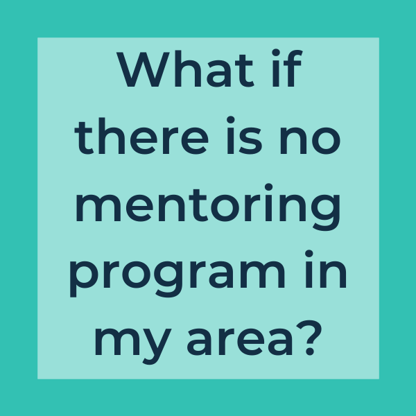 What if there is no mentoring program in my area?