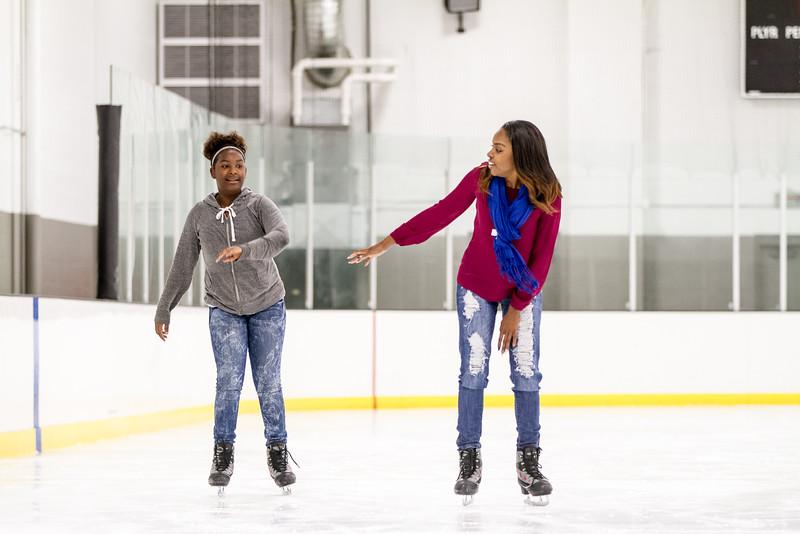 mentor and mentee skating