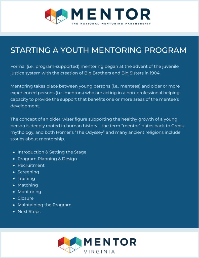 starting a mentoring program